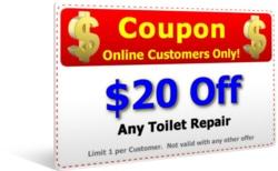 $20 Off Toilet Repair