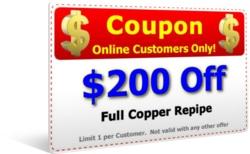 $200 Off Copper Repipe