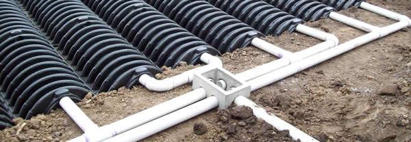septic feild pipes