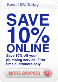 save 10% online on plumbing in Campbell