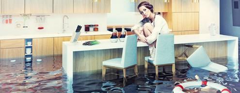 Woman in Flooded Kitchen Needs San Jose Plumber