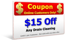 $15 Off drain Cleaning