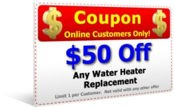 $50 Off Water Heater Replacement