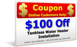 $100 Off Tankless Water Heater Replacement