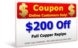 $200 Off Copper Repipe