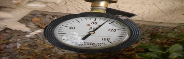 water pressure testing