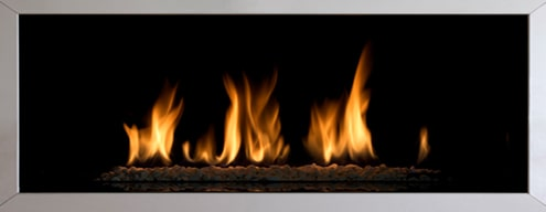 Gas Fireplace Burning Efficiently in San Jose Home